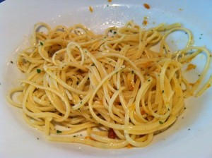 linguine with smoked red mullet eggs and olive oil