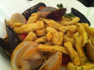 Scialatielli pasta with seafood